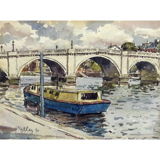 Richmond Bridge, Surrey England Watercolor