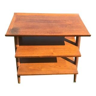 Mid-Century Modern 3 Tier Wooden Table