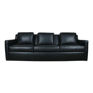 Modern Black Leather Sofa