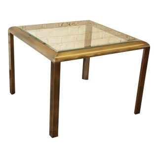 Baughman for DIA Brass & Glass Dining Game Table