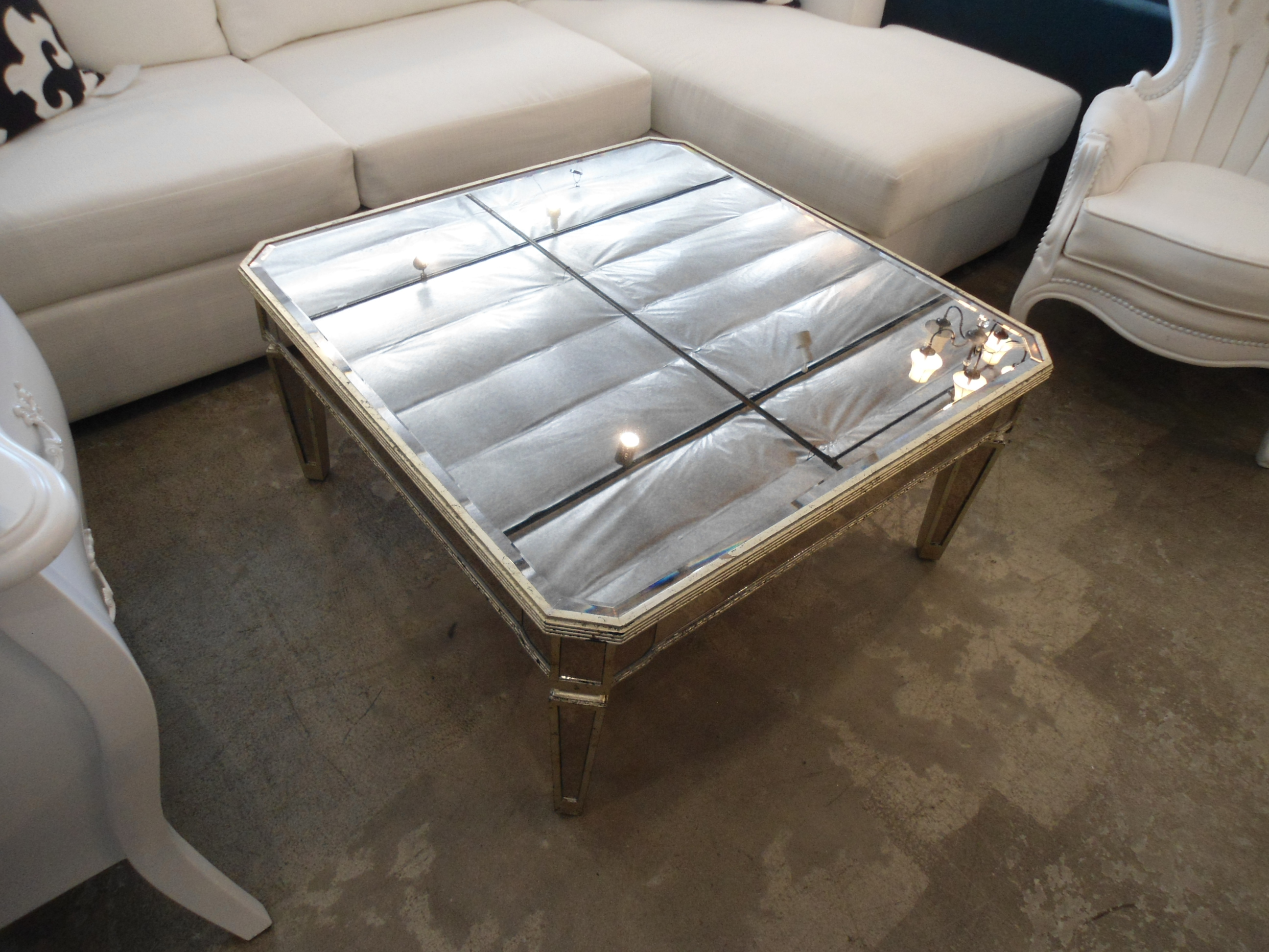 Marvelous Horchow Amelie Mirrored Coffee Table   Image 2 Of 7