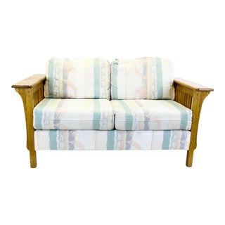 Mid-Century Oak Sofa