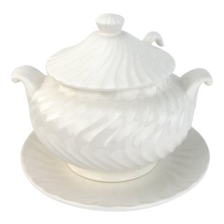 White Ceramic Soup Tureen w/ Ladle