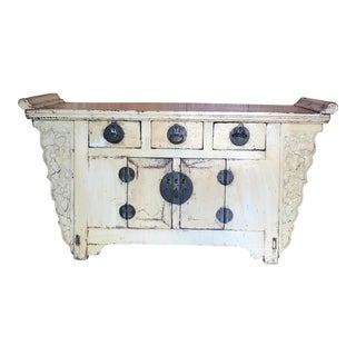 Antique Butter Yellow Sideboard