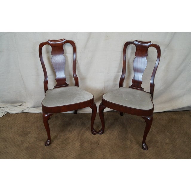 Image of Hickory 18th Century Style Dining Chairs - S/6