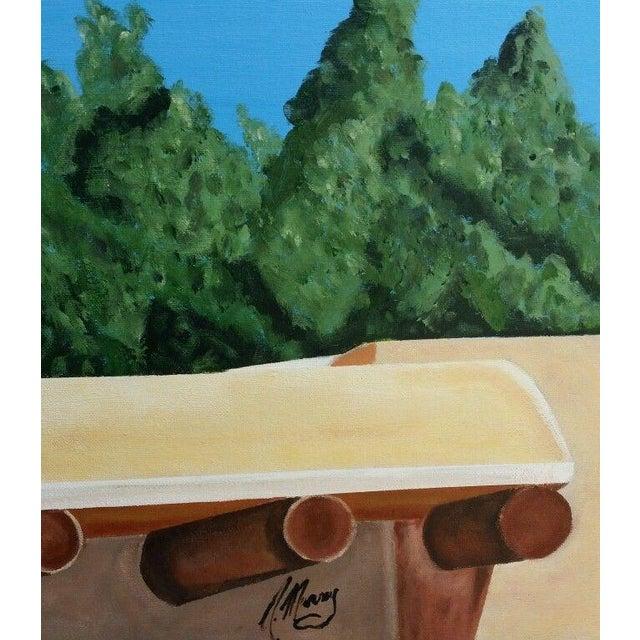Santa Fe Skyline Signed Original Acrylic Canvas - Image 3 of 6