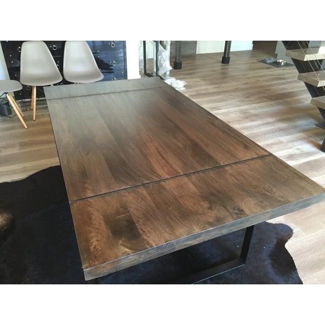 Modern Steel Base Wood Table Top - Image 4 of 5