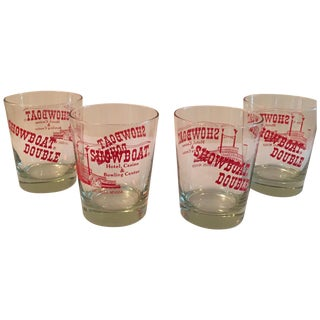 Vintage Showboat Casino Glasses - Set of 6