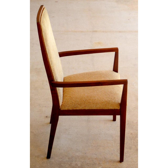 Dillingham Mid-Century Walnut Dining Chairs - Set of 6 - Image 4 of 9
