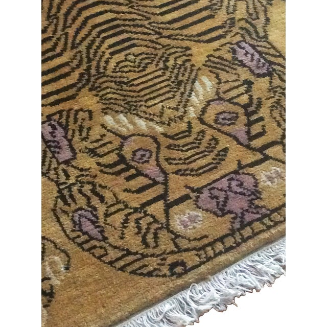 "Hand-Knotted Tibetan Tiger Rug - 4'7"" X 6'7"""