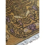 """Image of Hand-Knotted Tibetan Tiger Rug - 4'7"""" x 6'7"""""""