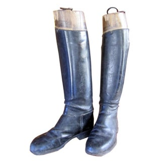 Vintage Leather Equestrian Boots - A Pair