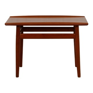 Grete Jalk Teak End Table With Raised Lip Top