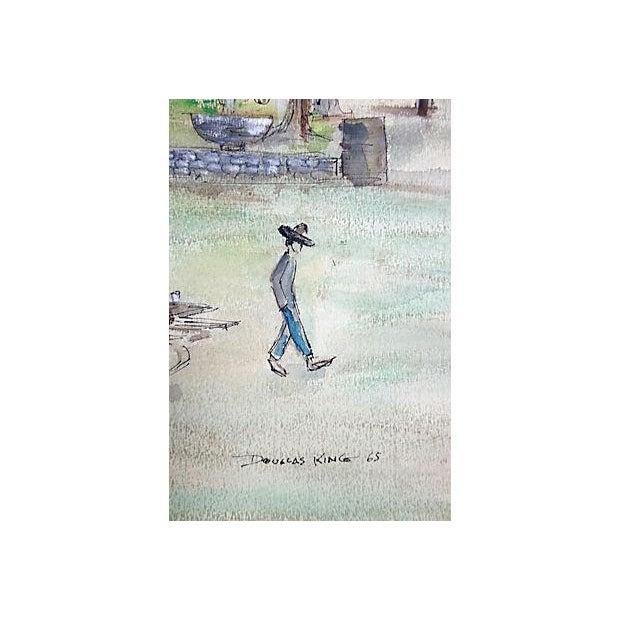 Image of Douglas King Lincoln Park, Los Angeles Watercolor