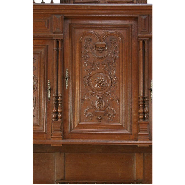 Antique French Renaissance Carved Buffet Server - Image 6 of 8