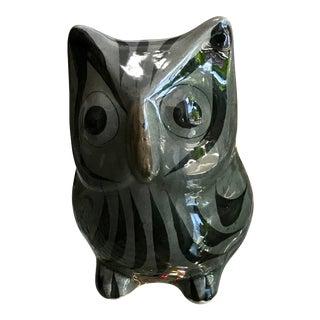Mid-Century Talavera Owl Figure