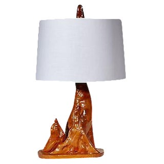 1950s Driftwood Style Table Lamp