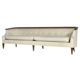 Erwin Lambeth for Tomlinson Furniture Walnut Sculpted Sofa