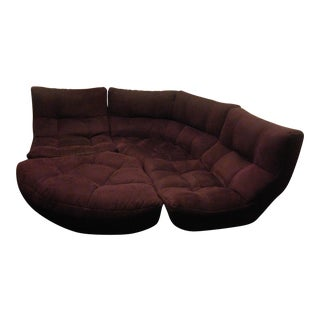 4-Piece Curved Sectional Sofa