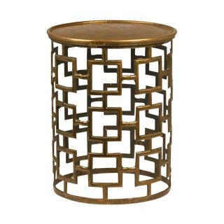 Contemporary Brass Side Table