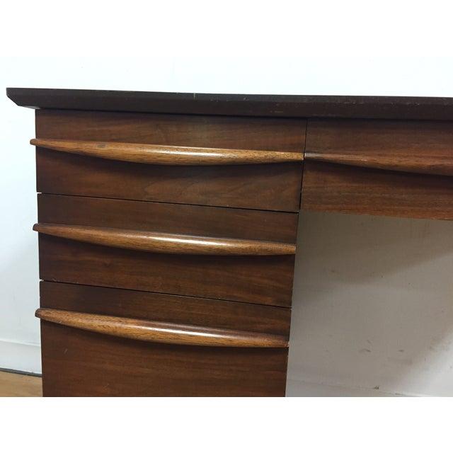 Image of Mid-Century Walnut & Formica Top Desk
