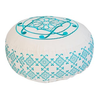 Turquoise Selima Floor Pillow
