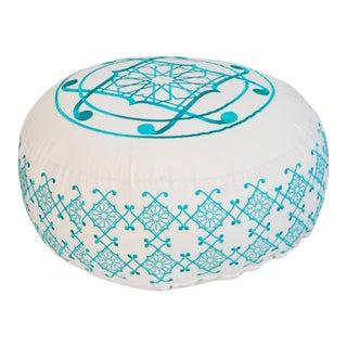 Turquoise Selima Floor Pillow