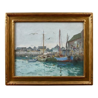 "Mathias J. Alten Painting ""Rockport Harbor, Massachusetts"""