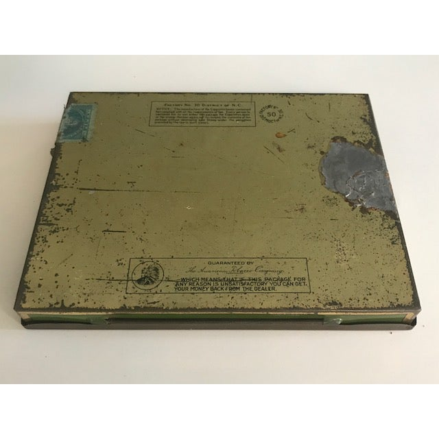 Image of 1940s Vintage Lucky Strike Cigarettes Box.