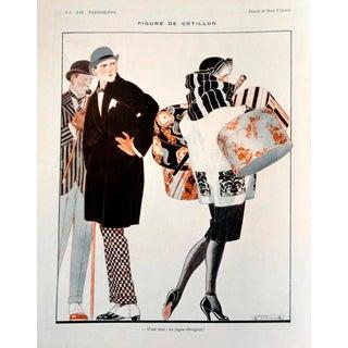 """René Vincent 1921 La Vie Parisienne """"Figure De Cotillion"""" Print"""