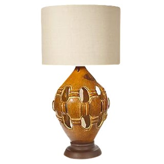 1960s Reticulated Ceramic Table Lamp