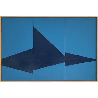 """Blue On Point Triptych - JET0443"" Original Painting by Jason Trotter"