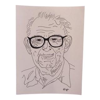 Original Artwork Grandpa Ink on Archival Paper