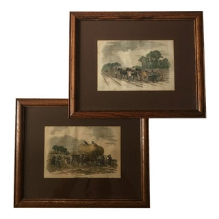 Framed 19th Century Agricultural Prints - A Pair