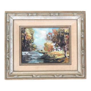 Vintage Original Landscape Painting by Bernard Bosman Signed