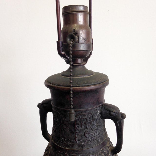Image of Antique Japanese Lamp