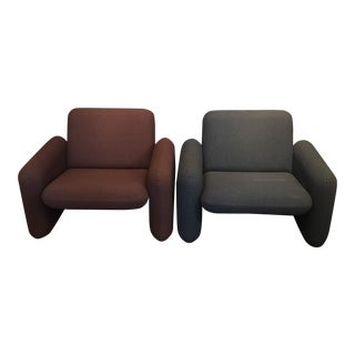 Ray Wilkes for Herman Miller Chiclet Chairs- A Pair
