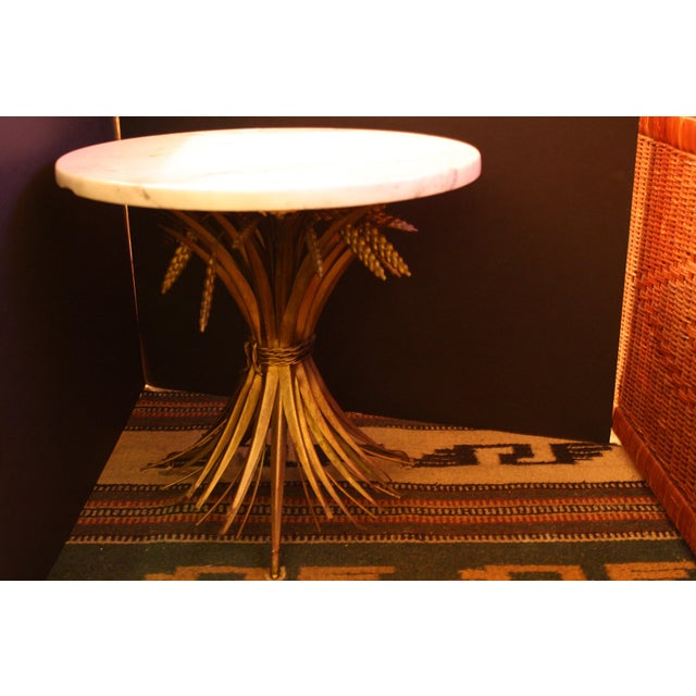 Vintage Italian Wheat Sheaf Marble Top Table - Image 3 of 7