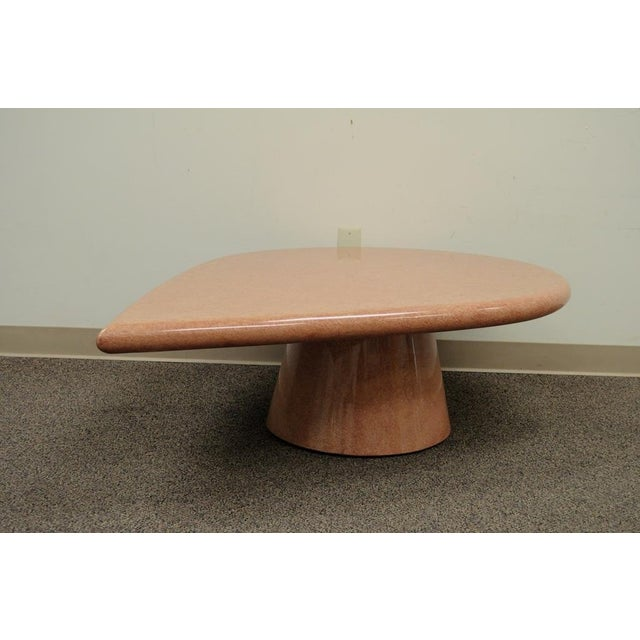 Vintage Mid-Century Modern Hollywood Regency Pink Tear Rain Drop Coffee Table - Image 3 of 11