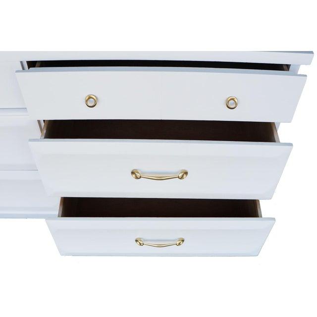 ramseur mid century white dresser chairish. Black Bedroom Furniture Sets. Home Design Ideas