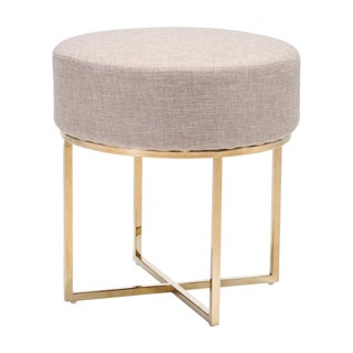 Contemporary Gold Stainless Steel Stool