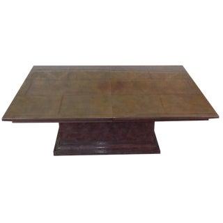 Karl Springer-Attributed Goatskin Dining Table
