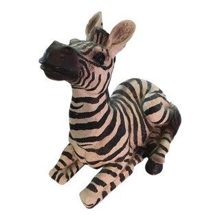 Vintage Resting Zebra Figure