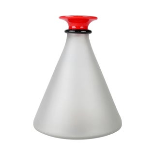 Hand-Blown Frosted Glass Decanter