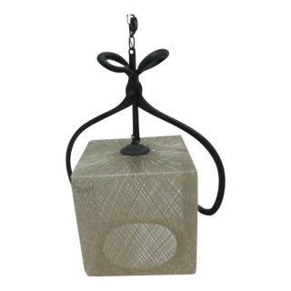 Vintage Mid Century Spun Fiberglass Ice Tong Chandelier Hanging Light