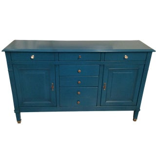 Peacock Blue Directoire Style Credenza