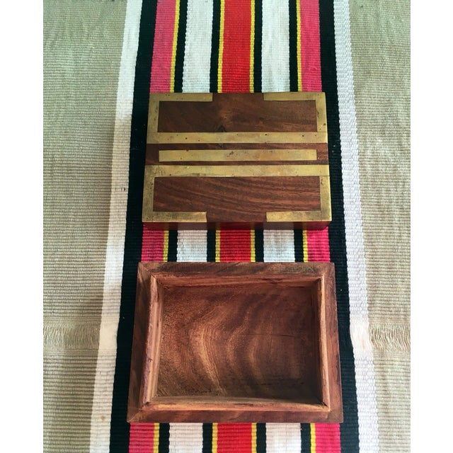 Wood Box With Brass Inlay - Image 6 of 8
