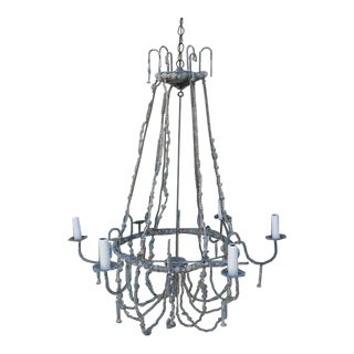 Italian Painted Beaded Chandelier