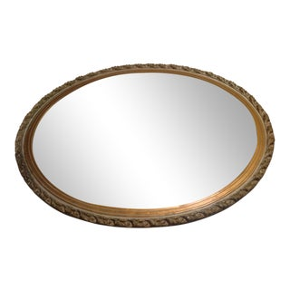 Wood Guilt Oval Mirror
