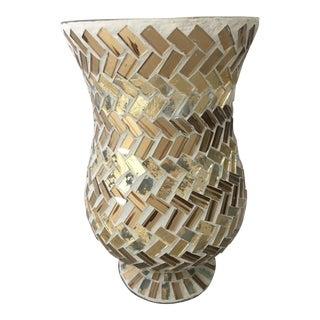 Mosaic Hurricane Vase